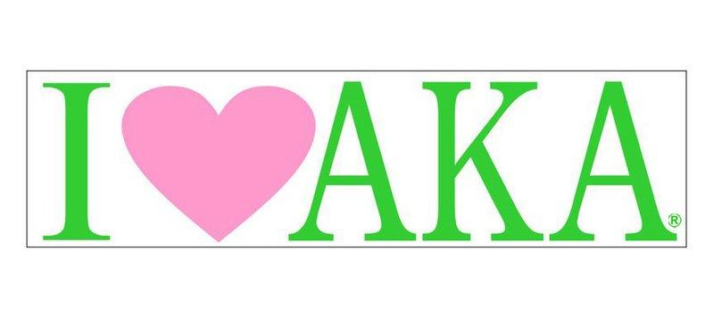 Alpha Kappa Alpha I Love Bumper Sticker