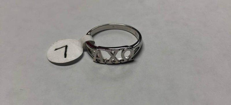 Super Savings - Alpha Chi Omega Sterling Silver Letter Ring