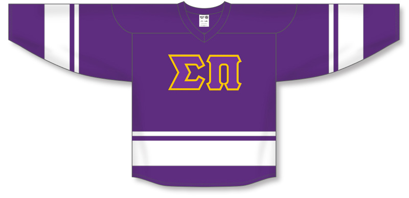 DISCOUNT-Sigma Pi Breakaway Lettered Hockey Jersey