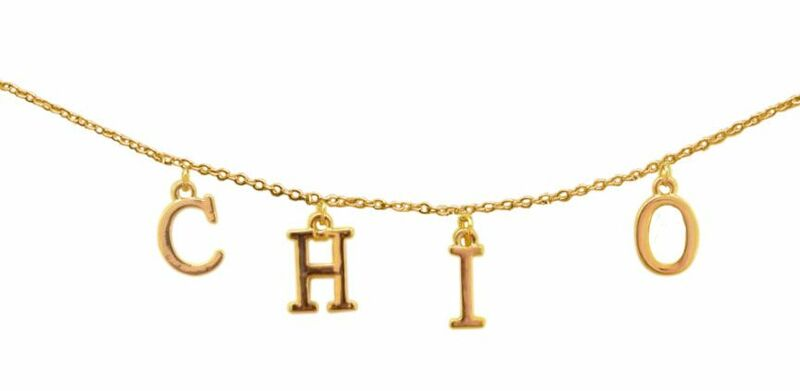 Chi Omega - CHI O Sorority Letter Necklace