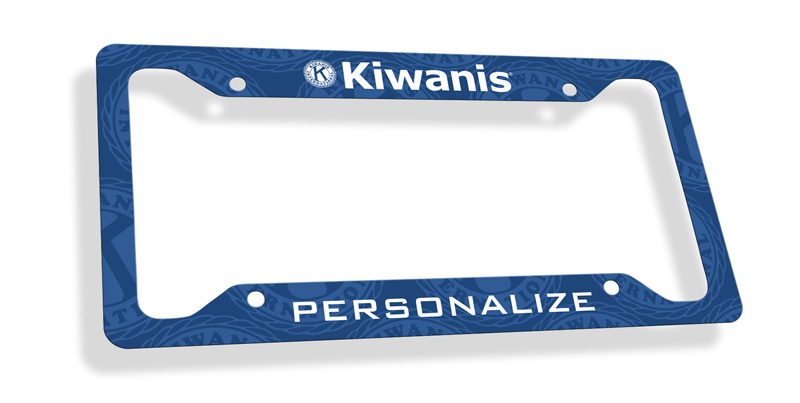Kiwanis Custom License Plate Frame
