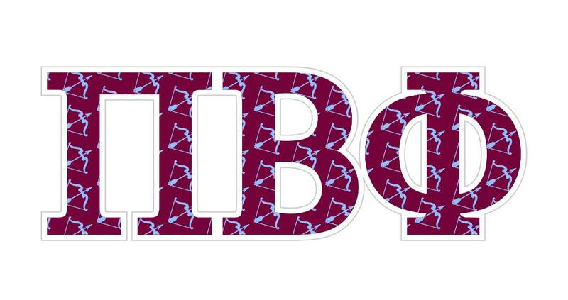 pi beta phi mascot greek letter sticker 25 tall