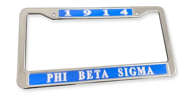 Phi Beta Sigma Chrome 1914 License Plate Frames