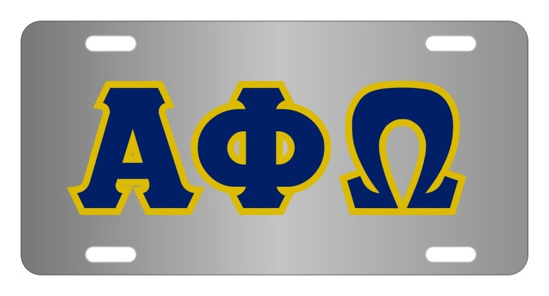 Alpha Phi Omega Lettered License Cover