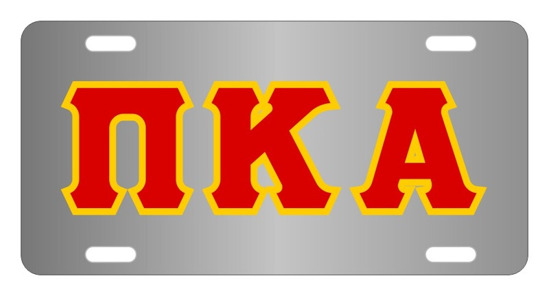 Pi Kappa Alpha Lettered License Cover