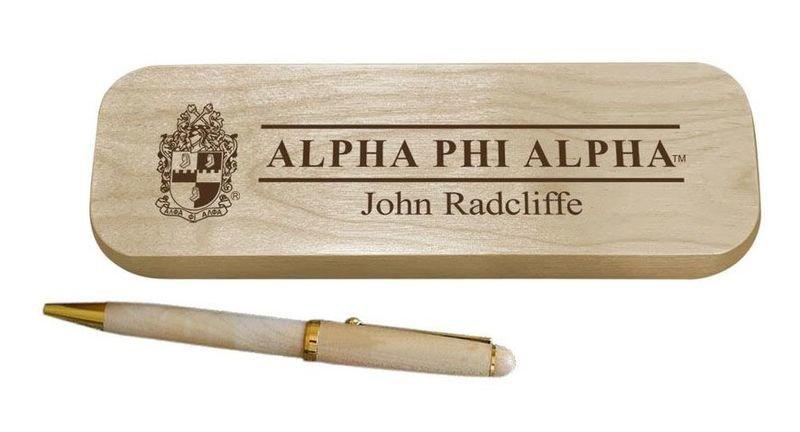 Alpha Phi Alpha Maple Wood Pen Set
