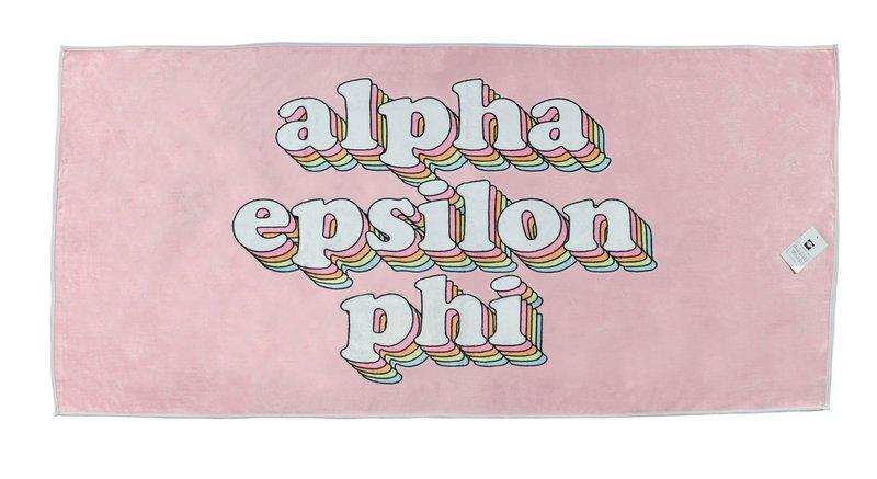 Alpha Epsilon Phi Plush Retro Beach Towel