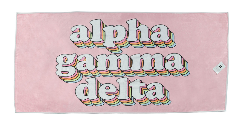 Alpha Gamma Delta Plush Retro Beach Towel