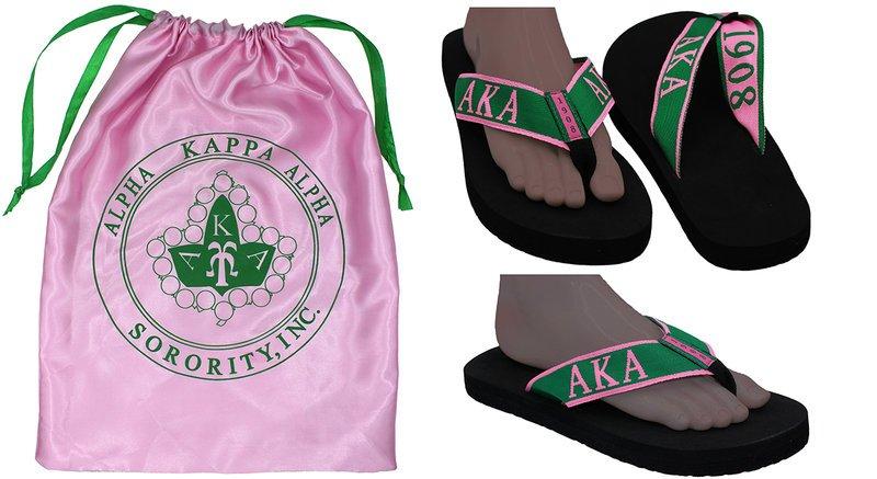 Alpha Kappa Alpha 1908 Flip Flops