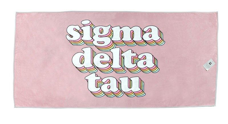 Sigma Delta Tau Plush Retro Beach Towel