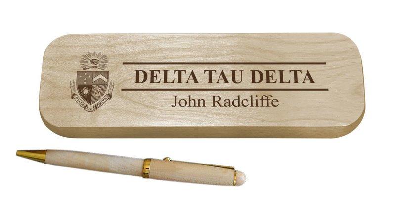 Delta Tau Delta Maple Wood Pen Set