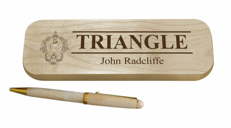 Triangle Maple Wood Pen Set