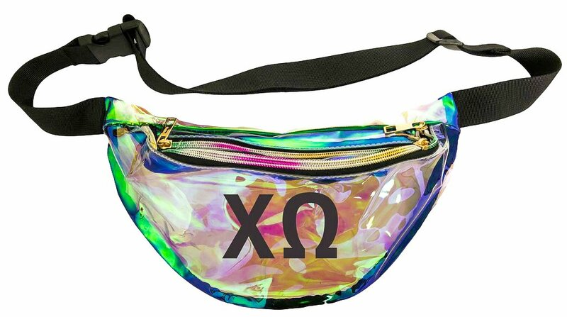 Chi Omega Holographic Fanny Pack