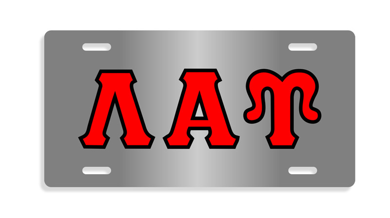 Lambda Alpha Upsilon Lettered License Cover