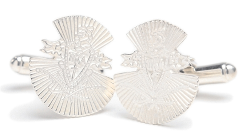 Pi Kappa Alpha Sterling Silver Crest - Shield Cufflinks