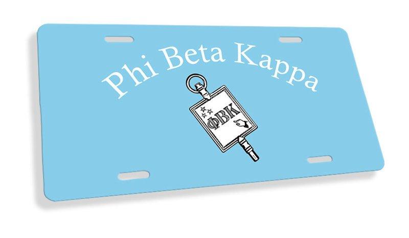 Phi Beta Kappa Flag License Cover