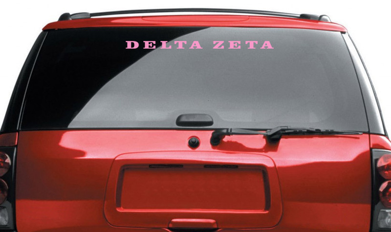 Outside of Window Greek Car Decal