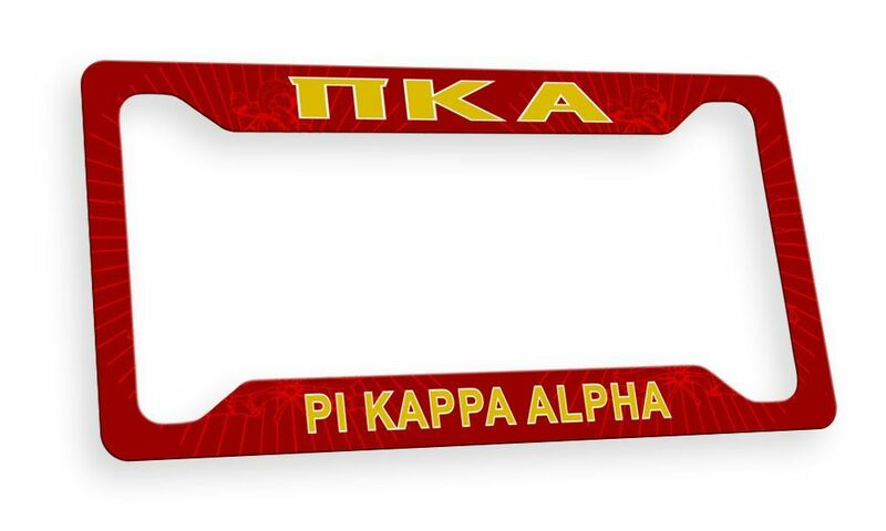 Pi Kappa Alpha Custom License Plate Frame