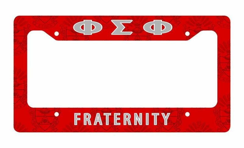 Phi Sigma Phi License Plate Frame