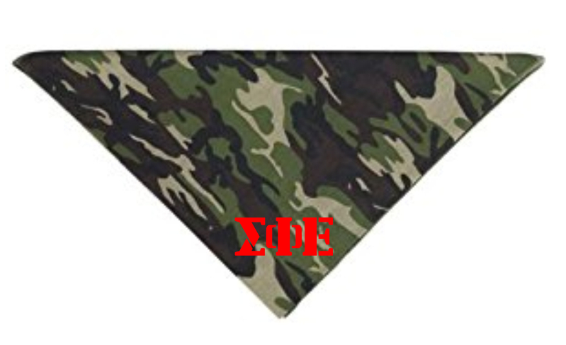 Camo Fraternity & Sorority Bandana