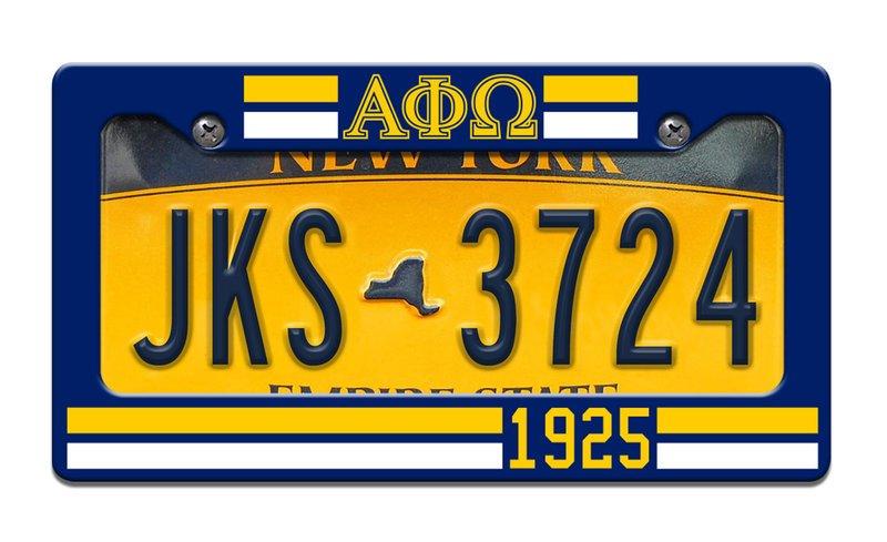 Alpha Phi Omega Year License Plate Frame