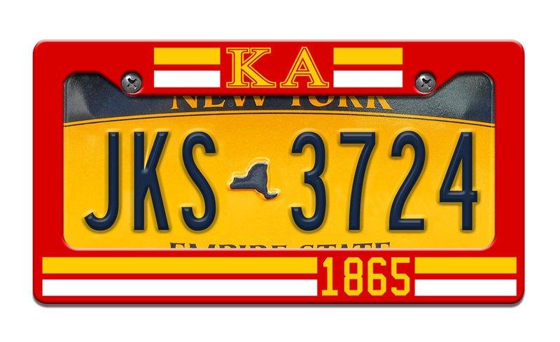 Kappa Alpha Year License Plate Frame