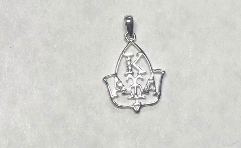 Super Savings - Alpha Kappa Alpha Leaf Pendant - SILVER 1 of 3