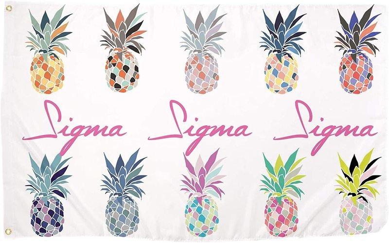 Sigma Sigma Sigma Pineapple Flag