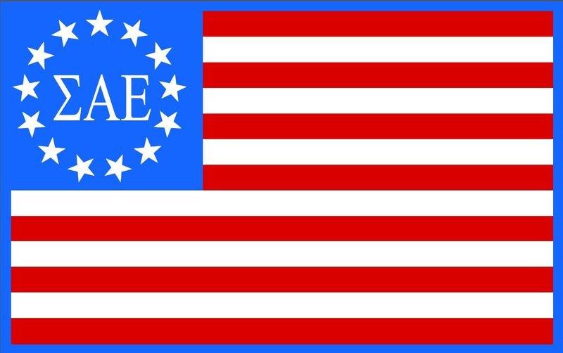American Flag Greek Sticker