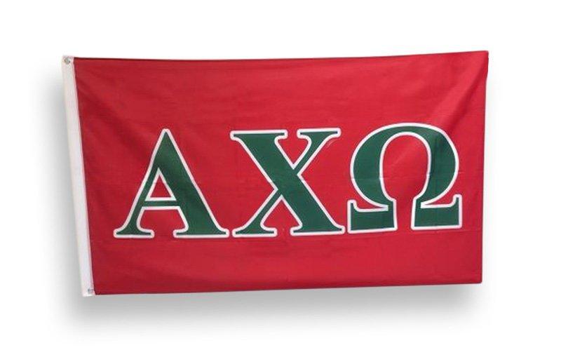 Alpha Chi Omega Big Greek Letter Flag