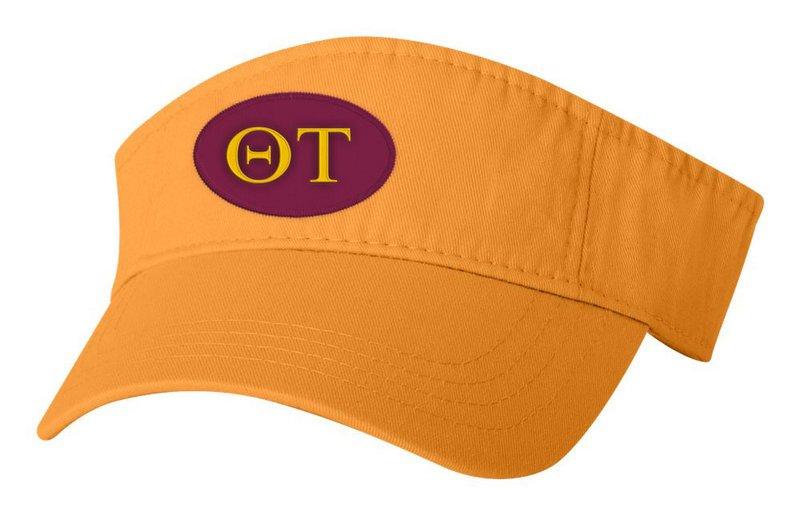 Theta Tau Greek Oval Heavy Visor
