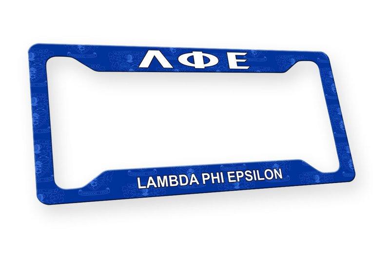 Lambda Phi Epsilon Custom License Plate Frame