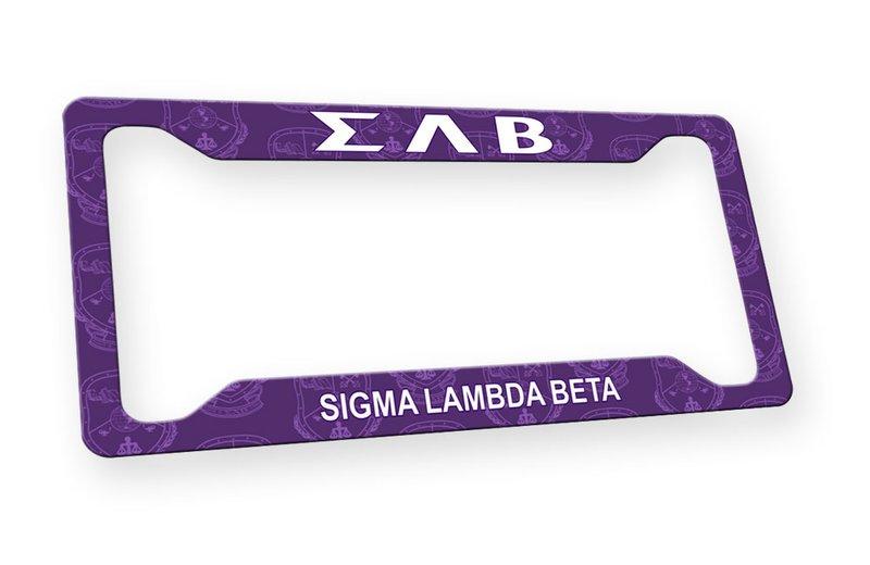 Sigma Lambda Beta Custom License Plate Frame