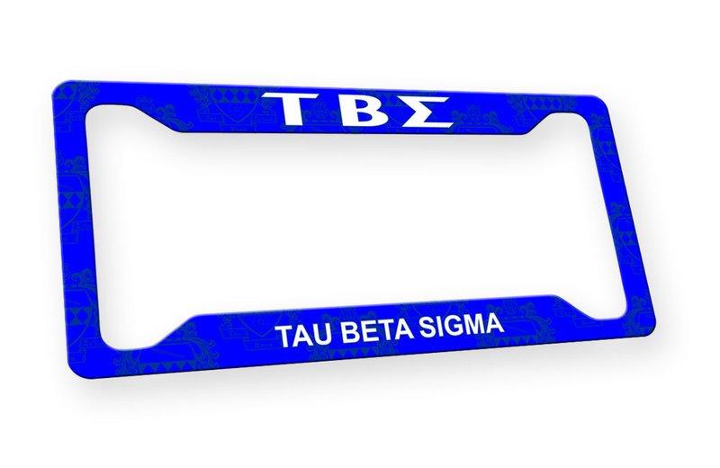 Tau Beta Sigma Custom License Plate Frame