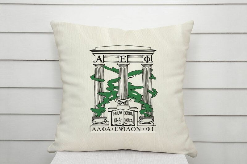 Alpha Epsilon Phi Linen Crest - Shield Pillow
