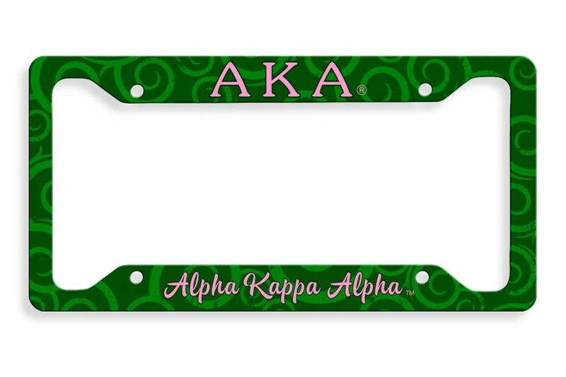 Alpha Kappa Alpha Metal License Plate Frame