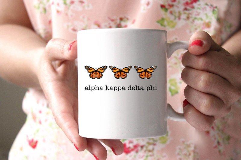 alpha Kappa Delta Phi Monarch Butterfly Coffee Mug