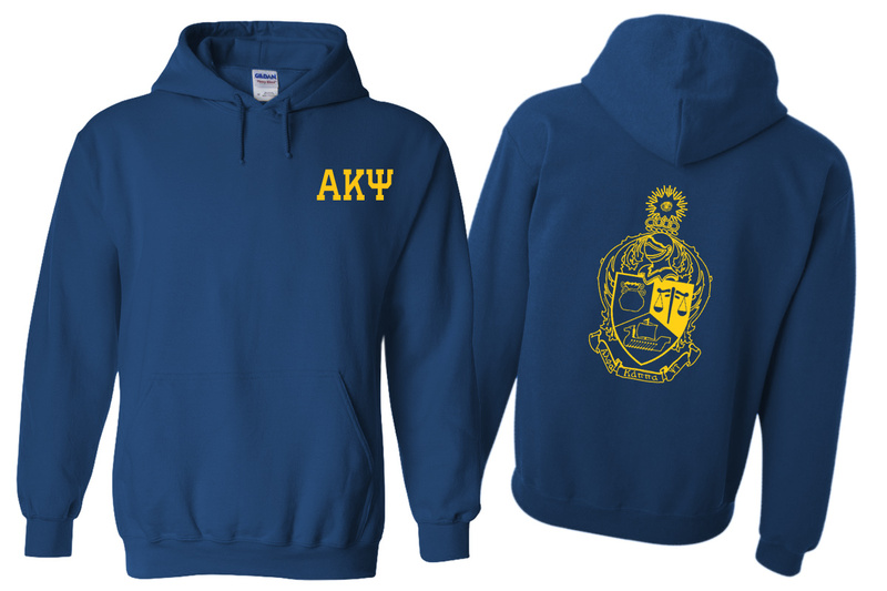 Alpha Kappa Psi World Famous Crest - Shield Printed Hooded Sweatshirt- $35!
