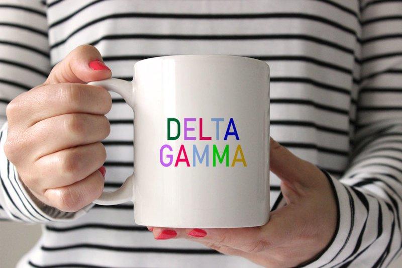 Delta Gamma Rainbow Coffee Mug