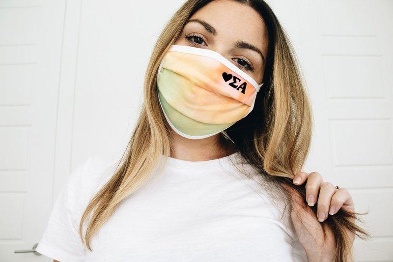 Sigma Alpha Tie Dye Face Mask
