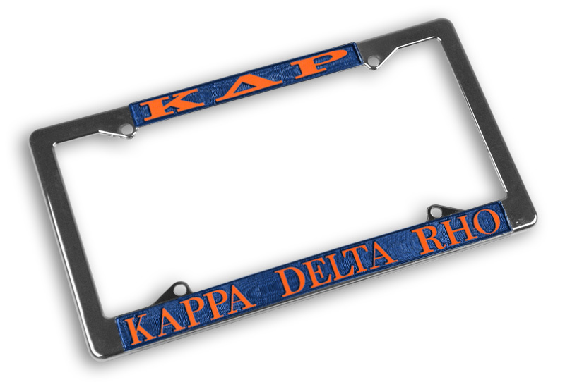 Kappa Delta Rho Chrome License Plate Frames