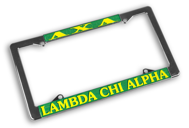 Lambda Chi Alpha Chrome License Plate Frames