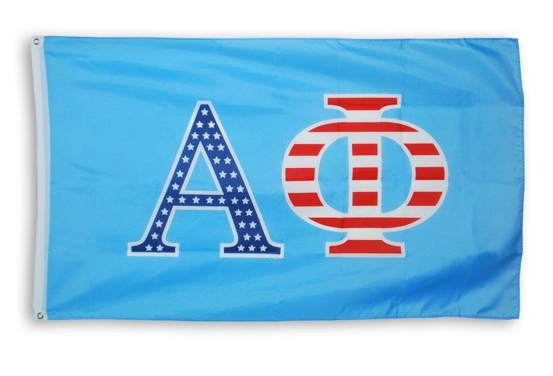 Greek Patriotic American Flag
