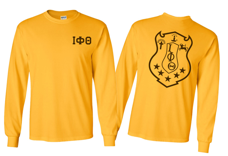 Iota Phi Theta World Famous Crest - Shield Long Sleeve T-Shirt- $19.95!