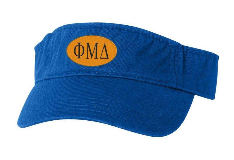 Phi Mu Delta Greek Oval Heavy Visor