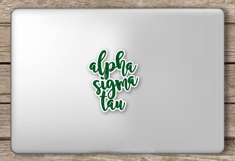 Alpha Sigma Tau Script Sticker