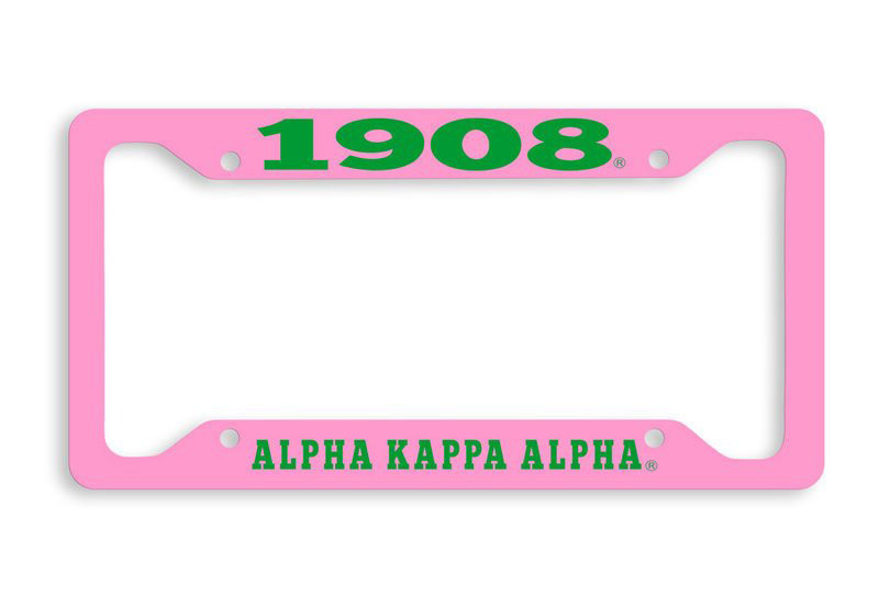 Alpha Kappa Alpha 1908 Metal License Plate Frame