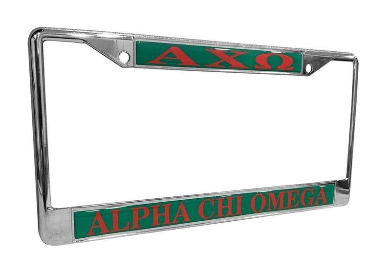 Alpha Chi Omega License Plate Frame