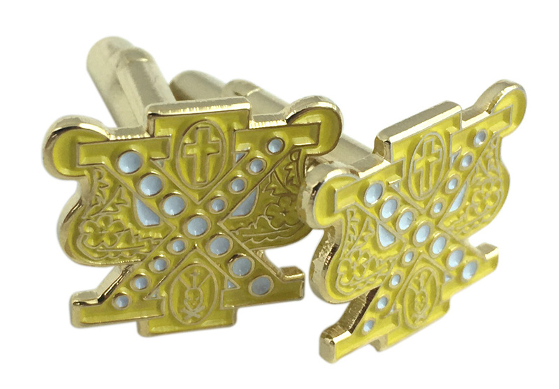 Chi Psi Color Crest - Shield Cuff links-ON SALE!