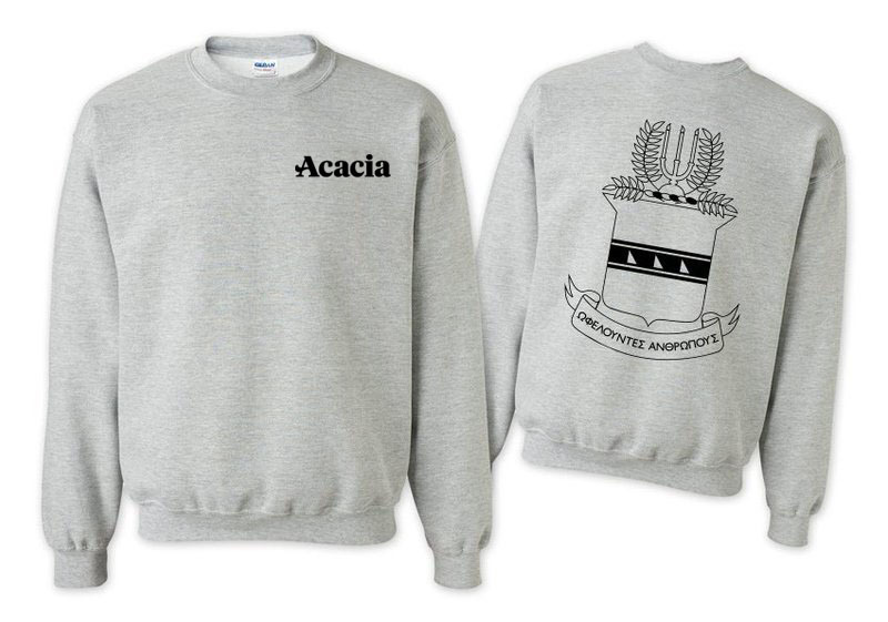 ACACIA World Famous Crest - Shield Printed Crewneck Sweatshirt- $25!